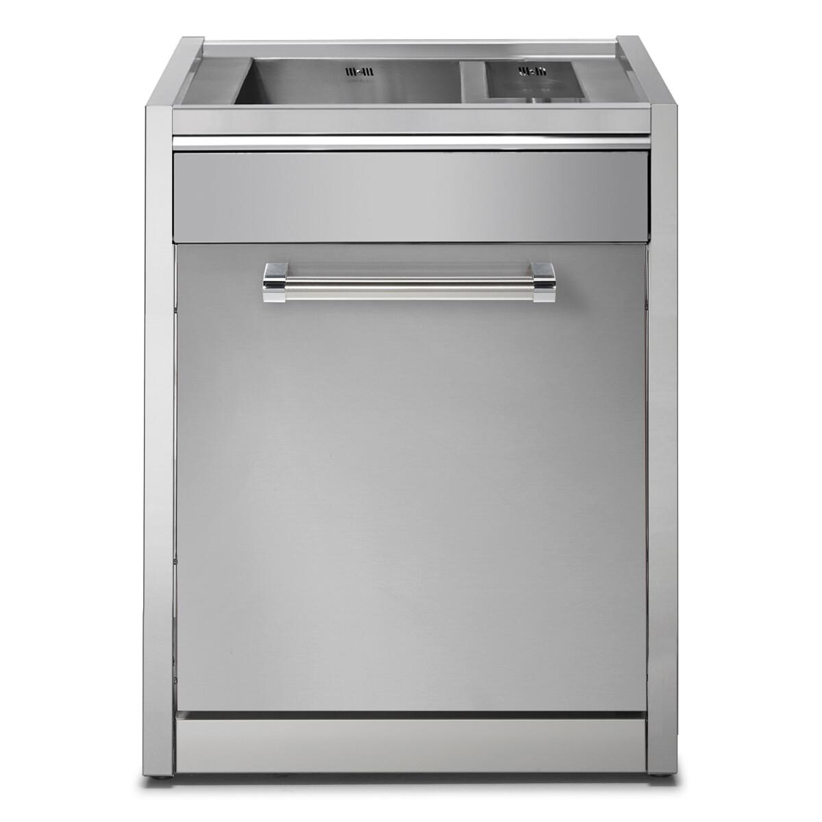 Lavello in acciaio g7s l2 steel outdoor kitchen il mondo for Lavello acciaio