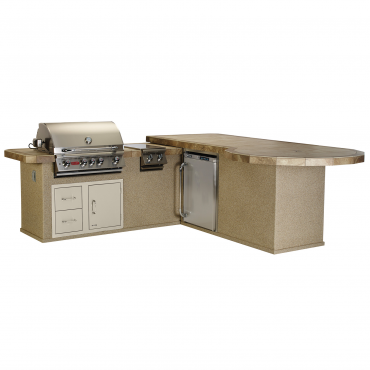 CUCINA DA ESTERNO BULL SUPREME-Q OUTDOOR KITCHEN ISLAND IN STUCCO
